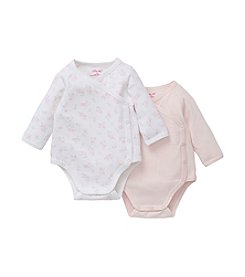Little Me® Baby Girls' 2 Pack Cotton Wrap Bodysuits