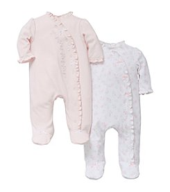 Little Me® Baby Girls' 2 Pack Footies