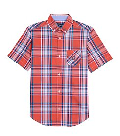 Chaps® Boys' 4-20 Short Sleeve Plaid Woven Shirt