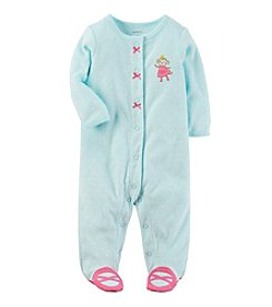 Carter's® Baby Girls' One Piece Princess Monkey Sleeper