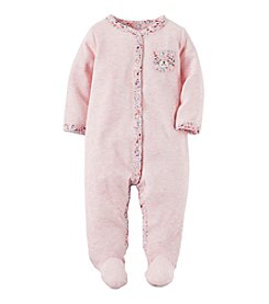 Carter's® Baby Girls' One Piece Floral Print Footed Sleeper