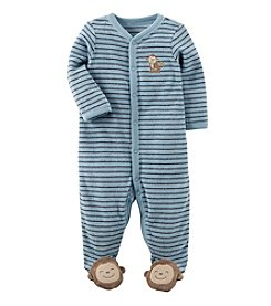 Carter's Baby Boys One Piece Striped Monkey Sleep & Play