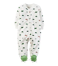 Carter's® Baby Boys One Piece Dinosaur Print Footie Sleeper