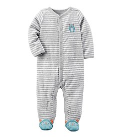 Carter's® Baby Boys Striped Monster Footed Sleeper
