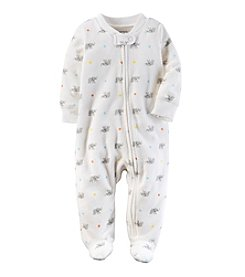 Carter's® Baby One Piece Elephant Print Footed Sleeper