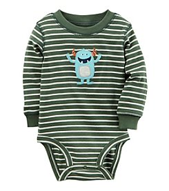 Carter's® Baby Boys Long Sleeve Striped Monster Bodysuit