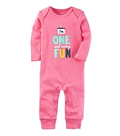 Carter's® Baby Girls One Is Fun Jumpsuit