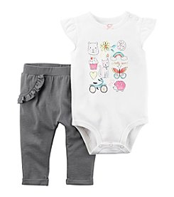 Carter's® Baby Girls 2-Piece Totally Sweet Bodysuit Pants Set