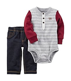 Carter's® Baby Boys 2-Piece Bodysuit Pants Set