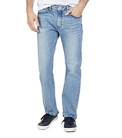 Nautica® Men's Straight Fit Light Wash Jeans