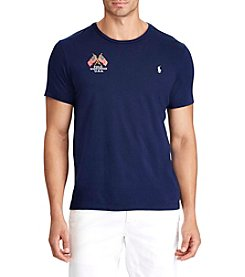 Polo Ralph Lauren® Men's Big & Tall Embroidered Cotton Tee