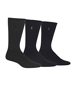 Polo Ralph Lauren&Reg; Men's Big & Tall 3-Pack Dress Socks