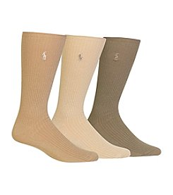 Polo Ralph Lauren® Men's Big & Tall 3-Pack Dress Socks