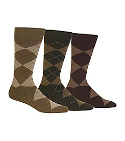Polo Ralph Lauren Men's Big & Tall 3-Pack Argyle Socks