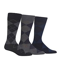 Polo Ralph Lauren® Men's Big & Tall 3-Pack Argyle Socks
