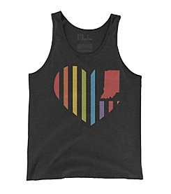 United State of Indiana Rainbow Heart Flag Tank