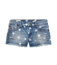 Polo Ralph Lauren® Girls' 7-16 Denim Star Print Shorts