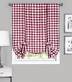 Achim Buffalo Check Window Curtain Tie-Up Shade