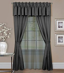 Achim Claire 6-Piece Window Curtain Set