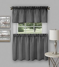 Achim Richmond Window Kitchen Curtain Tier Pair and Valance Set