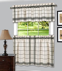 Achim Bainbridge Window Curtain Tier Pair and Valance Set