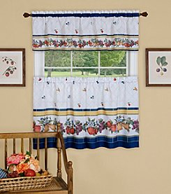 Achim Fruity Tiles Tier and Valance Window Curtain Set
