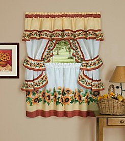 Achim Black Eyed Susan Cottage Window Curtain Set
