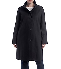 Jones New York® Plus Size Stand Collar Jacket