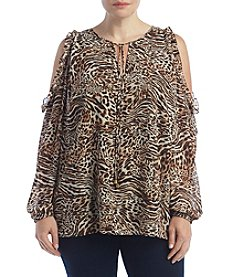 MICHAEL Michael Kors® Plus Size Animal Printed Top