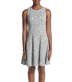 Ivanka Trump® Printed Fit and Flare Dress