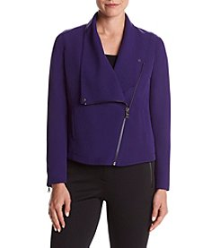 Anne Klein® Asymmetrical Zip Front Jacket