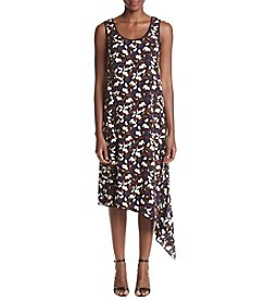 Anne Klein® Printed Asymmetrical Hem Dress