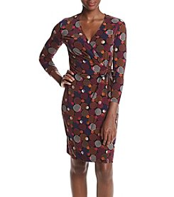 Anne Klein® Circle Printed Classic Wrap Dress