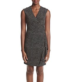 Anne Klein® Side Draped Printed Dress
