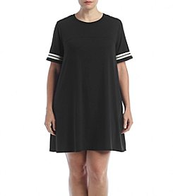 Living Doll® Plus Size Striped Sleeve Tunic Dress