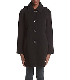 London Fog® Club Collar Hooded Rain Coat