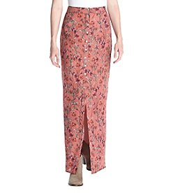 Sequin Hearts® Floral Print Maxi Skirt