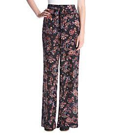 Sequin Hearts® Paisley Floral Print Soft Pants