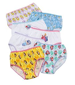 Disney® Girls' 4-8 Assorted 7-Pk. Princess Underwear