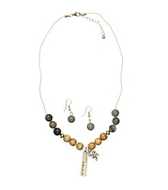 L&J Accessories Wooden Bead Jewelry Set