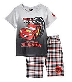 Disney® Boys 2T-4T 2 Piece Cars Power Lightning Mcqueen Shorts Set
