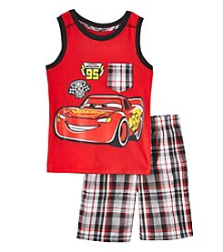 Disney® Boys' 2T-7 2 Piece Cars Lightning Mcqueen Muscle Set