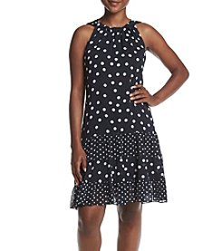 Prelude® Petites Tier Dot Dress