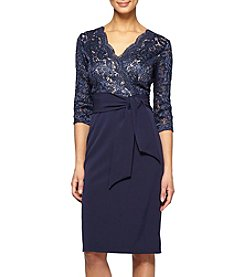 Alex Evenings® Lace V-Neck Dress
