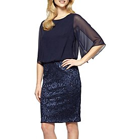 Alex Evenings® Lace Skirt Blouson Dress