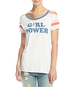 Chaser® Girl Power Cold Shoulder Top