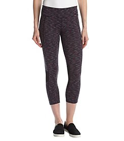 Calvin Klein Performance Miramar Stripe Sidepocket Cropped Leggings