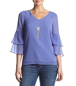 AGB® Necklace Bell Sleeve Top
