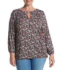 MICHAEL Michael Kors® Plus Size Brooks Peasant Top