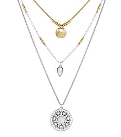 Lucky Brand® Triple Row Pendant Necklace